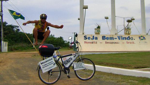 Valdeni Pinheiro Alves, 33 anos, quer passar por 26 estados e o Distrito Federal em menos de 345 dias (Foto: Arquivo Pessoal/Valdeni Pinheiro Alves)