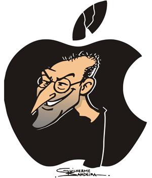 Internauta faz desenho em homenagem a Steve Jobs (Foto: Guilherme Louzada Bandeira/VC no G1)