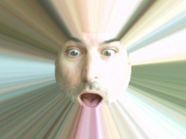 Steve Jobs brinca com photobooth (Foto: Reprodução)