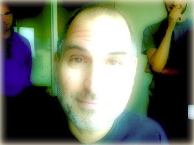 Steve Jobs brinca com photobooth (Foto: Divulgação)