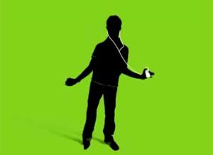 'Sombras' dançam com o iPod (Foto: Reprodução)
