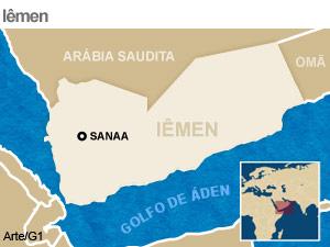 mapa iêmen (Foto: Arte G1)