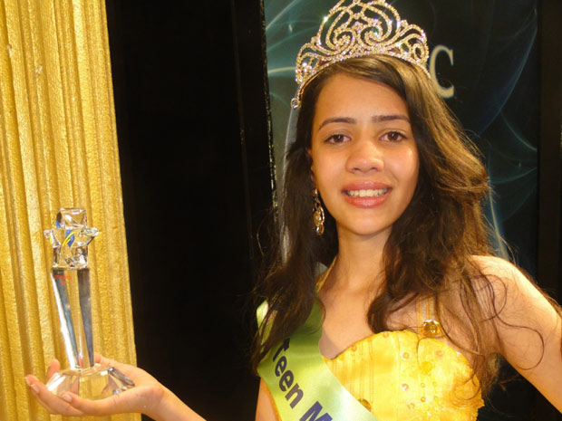 Ana Paula Batista, 12 anos, foi eleita a Little Miss World, na Turquia (Foto: Daniela D'Ávila/Divulgação)