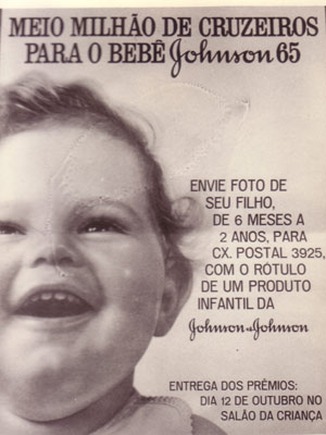 """Cartaz da primeira campanha """"Bebê Johnson"""", lançada em 1965. (Foto: Divulgação)"""