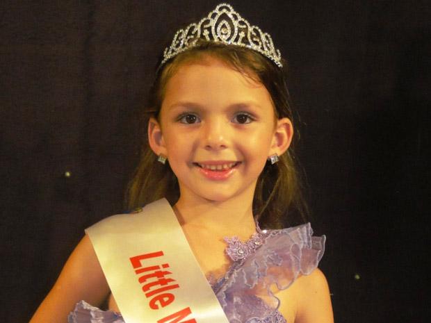 Eduarda Haoffman, 6 anos, ficou com o título de Miss Simpatia (Foto: Daniela D'Ávila/Divulgação)