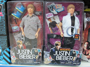 Boneco do cantor Justin Bieber sai a partir de R$ 75 (Foto: Juliana Cardilli/G1)