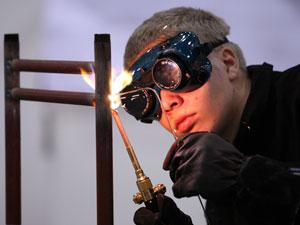 Estudante de ensino profissionalizante da Finlândia (Foto: Divulgação/World Skills)