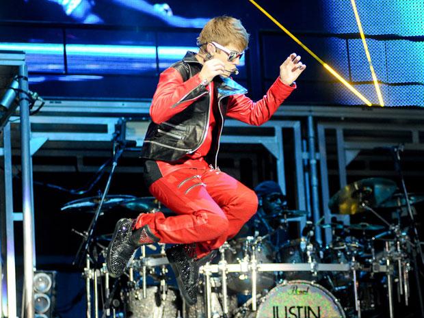 Justin Bieber cantou os seus sucessos no show no Morumbi (Foto: Flávio Moraes/G1)