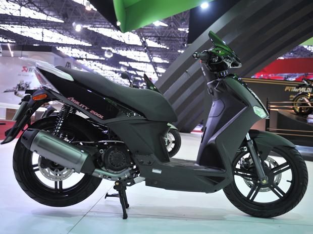Kymco Agility 200i tem motor de 163 cm³ que alcança 10,3 cv a 7.500 rpm (Foto: Raul Zito/ G1)