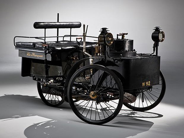 O modelo De Dion Bouton et Trepardoux Dos-a-Dos Steam Runabout de 1884 (Foto: Divulgação)