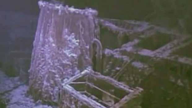 Imagem do SS Mantola feita por robô submarino (Foto: BBC)