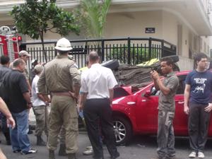 Acidente em Copacabana VC no G1 (Foto: José Carlos Pereira de Carvalho/VC no G1)