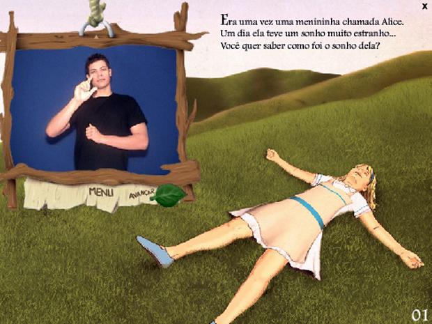 Narrativa do clássico Alice no País das Maravilhas tem elementos para atender às crianças surdas e aos pais ouvintes (Foto: Editora Arara Azul)