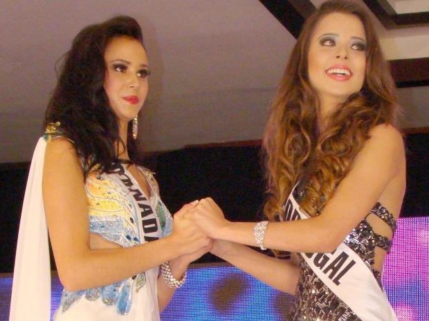 Isabella disputou a etapa final junto com a Miss Teenager Canadá (Foto: Divulgação BMW eventos)
