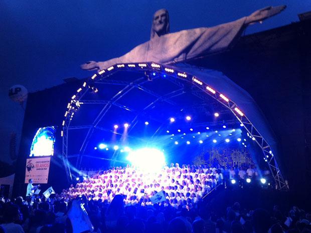 Show do Cristo (Foto: Tássia Thum/G1)