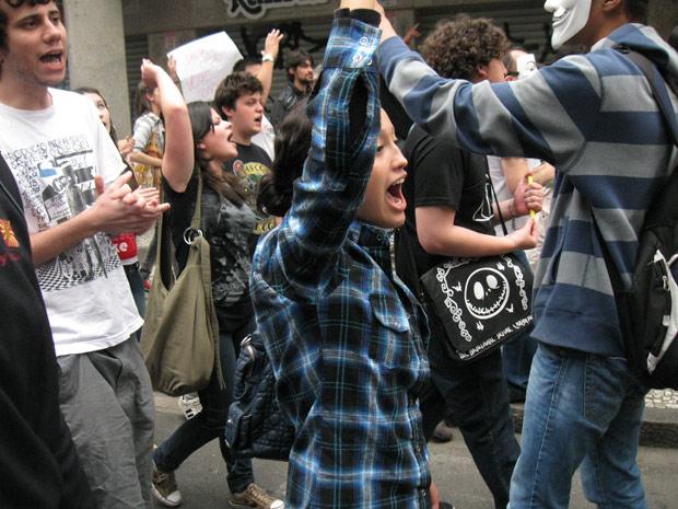 Marcha Contra Corrupção em Curitiba (Foto: Samuel Nunes/G1 PR)