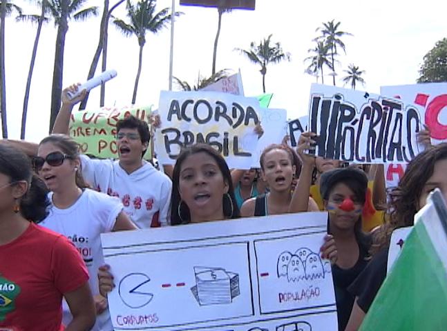 Marcha contra corrupção salvador (Foto: Marcha contra corrpção, Salvador, Brasil)