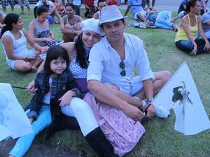 Turista aproveitou show para comemorar Dia das Crianças (Foto: Tássia Thum/G1)