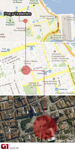 mapa do local da explosão (Foto: Arte / G1)