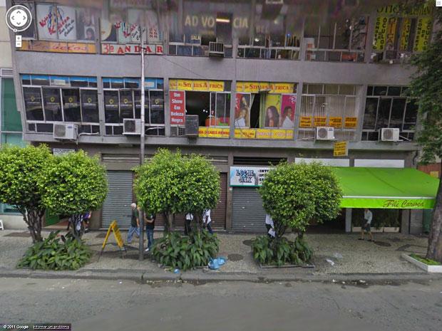 Imagem do Google mostra como era o prédio antes da explosão ocorrida na manhã desta quinta (13) no Rio (Foto: Google)