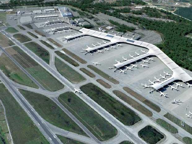 Após os investimentos, aeroporto de Guarulhos deve ter terceiro terminal de passageiros, pistas ampliadas, maior estacionamento, maior pátio para carga e área para estacionamento de aeronaves (Foto: Reprodução/Secretaria de Aviação Civil)