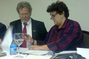 Ministra Izabella Teixeira durante assinatura de renovação da Moratória da Soja na Amazônia (Foto: Lucas Cyrino / G1)