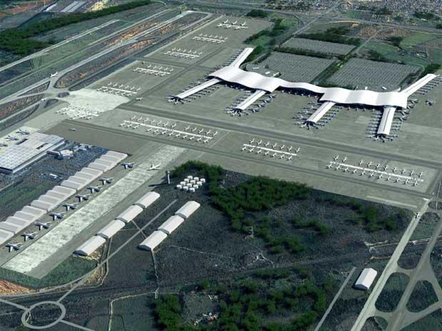 Ao final dos investimentos, aeroporto em Campinas terá quatro pistas, novo terminal de passageiros e estacionamento maior (Foto: Reprodução/Secretaria de Aviação Civil)