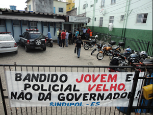 Polícia Civil paralisa atividades na Deacle. (Foto: Divulgação/Sindipol-ES)