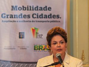 A presidente Dilma Rousseff, durante solenidade em Porto Alegre. (Foto: Roberto Stuckert Filho/PR)