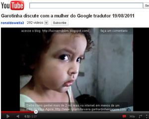 Menina briga com a voz do Google Tradutor por mandá-la ir dormir (Foto: Reprodução)