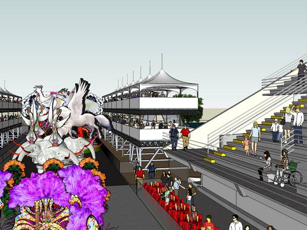 Sambão do Povo, em Vitória, ganhará nova estrutura para 2013 (Foto: Divulgação/ Semc PMV)