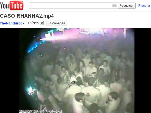 Câmera de segurança registrou momento da agressão em casa noturna no RN (Foto: Reprodução/YouTube)