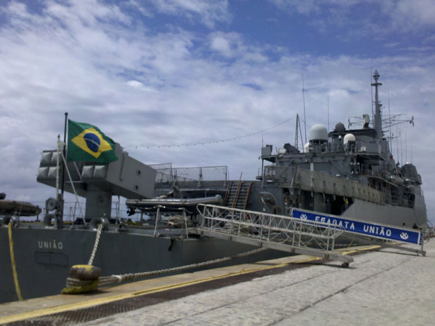 Brazilian Frigate Union stops in Recife en route to Lebanon for six-month deployment