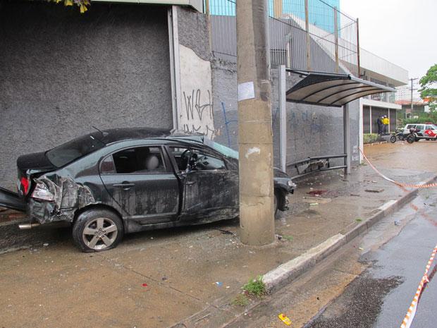 Acidente no Itaim Bibi (Foto: Dennis Barbosa/ G1)