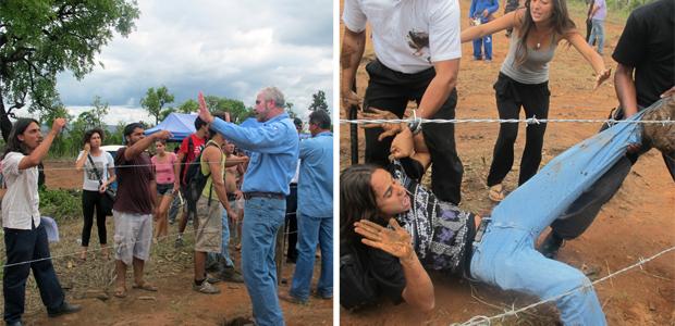 Estudantes e agentes de segurança entraram novamente em conflito nesta sehunda-feira (17) no Setor Noroeste, em Brasília (Foto: Rafaela Ceo / G1)
