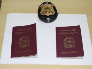 Fake passports seized from travelers at the Friendship Bridge in Iguassu Falls