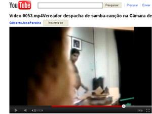 Vídeo mostra vereador de Belo Horizonte supostamento trabalhando de cueca. (Foto: Reprodução internet)
