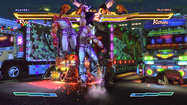 Tela de jogo de 'Street Fighter X Tekken', que chega em 2012 (Foto: Divulgação)