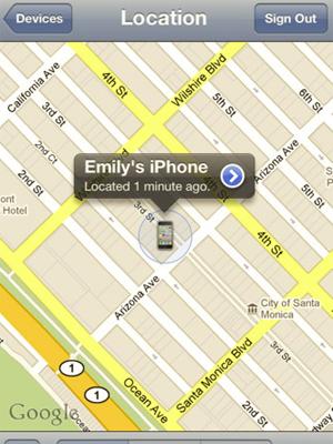 Tela do Buscar Meu iPhone, desenvolvido pela Apple (Foto: Reprodução)