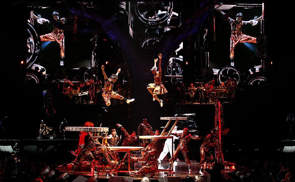 """O Cirque du Soleil começou neste final de semana a viajar pelo mundo com o novo show """"Immortal"""""""