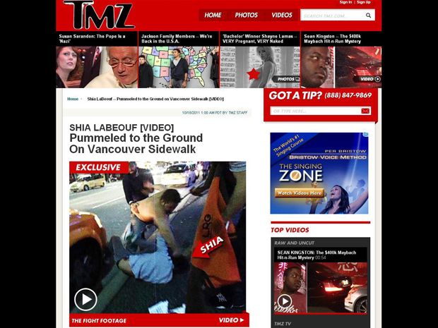 O ator Shia LaBeouf se envolveu em briga no Canadá (Foto: Reprodução)