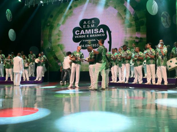 Escolas de samba fazem segundo dia de gravação (Foto: Paulo Toledo Piza/G1)