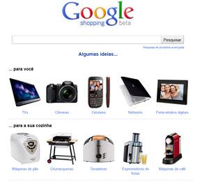 Site Google Shopping permite fazer pesquisas sobre produtos (Foto: Reprodução)