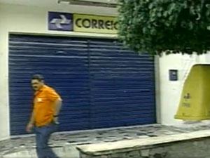 Agência dos Correios é assaltada na Paraíba (Foto: Reprodução/TV Paraíba)