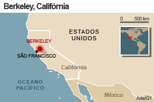 Mapa - terremoto San Francisco, epicentro em Berkeley (Foto: Editoria de Arte/G1)