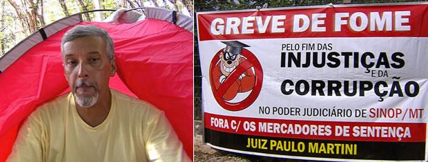 Agricultor decide fazer greve de fome em Mato Grosso (Foto: Reprodução TVCA)