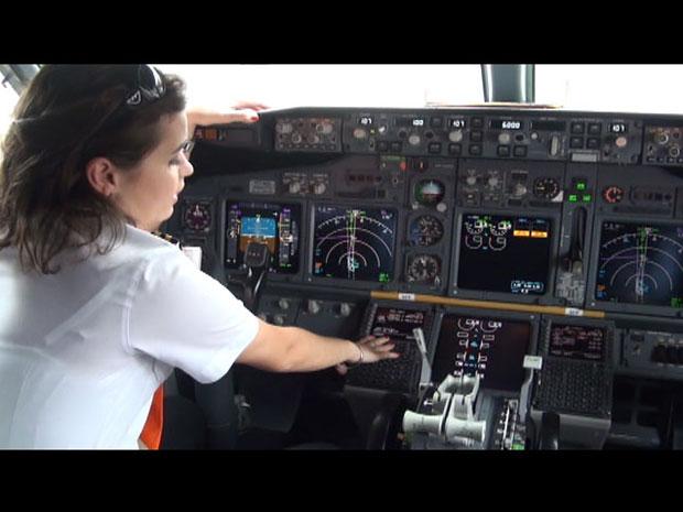 mulheres aviação comando gol (Foto: Tahiane Stochero/G1)