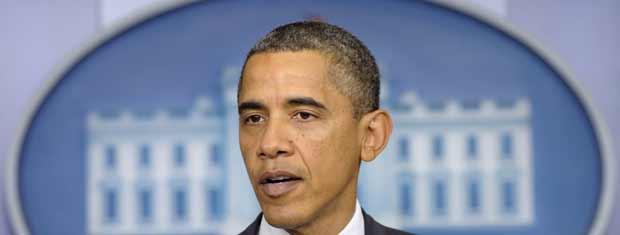 O presidente dos EUA, Barack Obama, fala nesta sexta-feira (21) na Casa Branca sobre a retirada de tropas americanas do Iraque (Foto: AP)