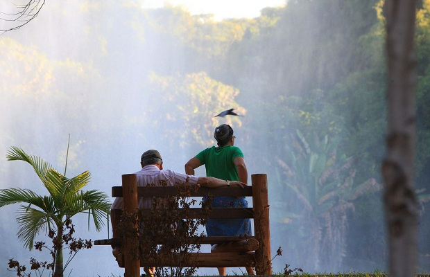 Parque Areião, na região Sul de Goiânia, foi retivalizado recentemente  (Foto: Zuhair Mohamad/O Popular)