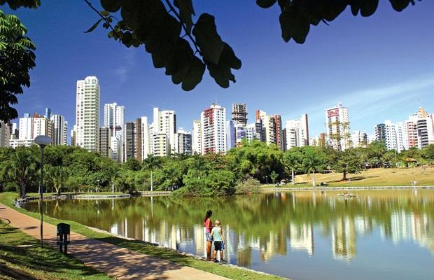 Parque Vaca Brava, no Setor Bueno, em Goiânia (Foto: Weimer Carvalho/O Popular)